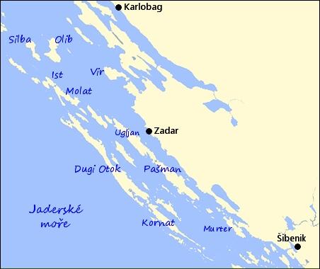 Chorvatsko Severni Dalmacie