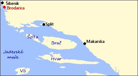 Chorvatsko Brodarica Severni Dalmacie