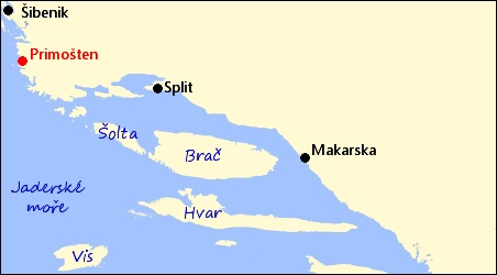 Chorvatsko Primosten Severni Dalmacie