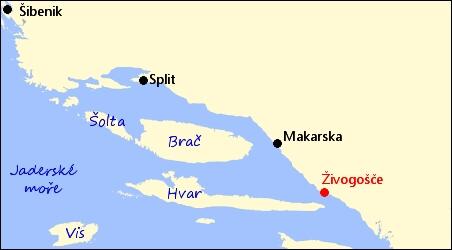 Chorvatsko Zivogosce Stredni Dalmacie